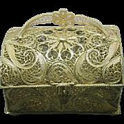 A filigree jewel casket. Continental. 20th century.