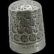 SOLD An unusual steel clad thimble- MATT.