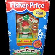 Colletor Fisher price Little people Christmas Santa Helper NIB