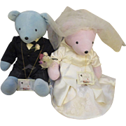 Collectable Tracy Spencerbear & Bride Elizabear Taylor North American Bear Co. V.I.B. Bears  (