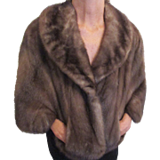 Luxurious light brown Mink cape made by Whitten Furs