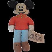 Miniature stuffed mickey mouse doll Knickerbocker