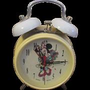 Vintage Disney Minnie Mouse digi-tech wind up clock
