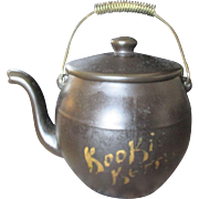 Vintage Black McCoy Kookie Kettle