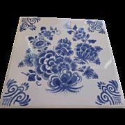 Collectable Delft Blue (Dutch) Delfts Blauw tile
