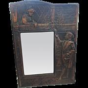 Copper blackened copper picture frame