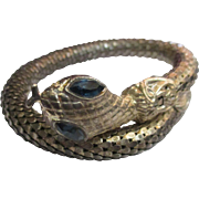 Early 1970's silver tone mesh snake arm bracelet