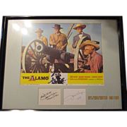 Autographed x John Wayne with Lobby Card The Alamo