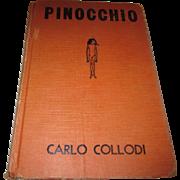 Early 1920's Pinocchio by Carlo Collodi hard back book