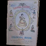 Vintage Kim's Colonial Heroines Coloring Book
