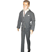 Vintage 1960 Ken doll full pant suit with  Mattel stand