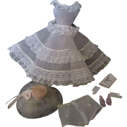 Vintage 1960 Barbie doll dress Plantation Belle # 996
