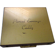 Vintage pierced earrings caddy compact
