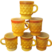 Vintage Fire King Kimberly coffee mugs