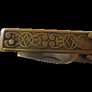 Vintage brass knife numbers 42p50k