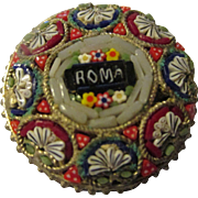Vintage 1960's Glass Micro Mosaic Brooch Rome