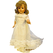 "Vintage 40's Effanbee 17"" Little Lady Composition  Doll"
