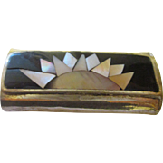 Vintage Sterling  Inlayed lighter holder.