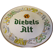 Vintage 15' hand painted advertisement wall plate, Diebels Alt- meaning Old beer from Germany