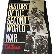 History of the Second World War 1989 hard back book, with jacket.