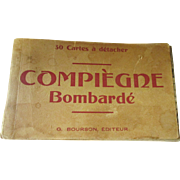 Vintage World War One Souvenir Compiegne Bombarde 26 post cards
