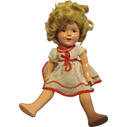 Vintage Earlier Composition Shirley Temple Doll 13""