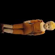 Vintage 1935-40 blond, bisque boy doll, Japan