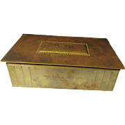 Circa 1904-1914 Wurttemberg Metal Factory  Presentation brass trinket box, Vikings.