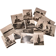 "Vintage B&W 16  8""x10""  WW 2  U.S.S. naval battleships.  Price is ..."