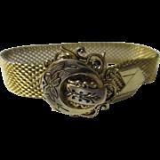 Vintage retro mesh bracelet Chevron end piece