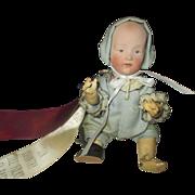 """Sweet baby boy miniature Heubach Gebruder 8"""" bisque doll"""