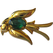 Vintage Pegasus Coro flying bird brooch