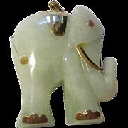 Fabulous beautiful 585 European 14k yellow gold elephant pendant