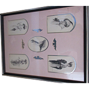 Antique Post card display picture 1911-1916