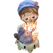 Vintage Aladdin little girl  night light, little