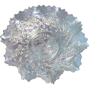Dugan 1909 - 1931 vintage White Carnival Ruffled and Saw Tooth Edged 8.5 in Bowl ...