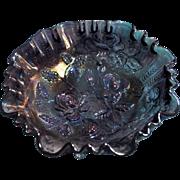 SALE Imperial Amethyst Carnival Open Rose 8 1/2 inch 3 in 1 Ruffle Bowl
