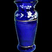 REDUCED Fenton Cobalt Vase Landmark Collection 2005 QVC