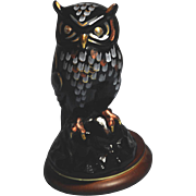Fenton Medallion Colllection - The Owl on Wood Stand (Free Shipping)