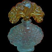 Fenton New Century XXI Series Blue Bottle and Gold Stopper Perfume