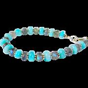 SOLD Peruvian Opal and Labradorite Sterling Silver Bracelet