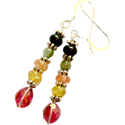 Tourmaline Multi-shape/color Earrings