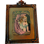 Mid-19th Century Wood and Gesso Wall Picture Frame