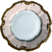Early Limoges Hand-Painted Fine Porcelain Dessert Dish