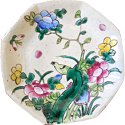 Chinese Famille Rose Octagonal Serving Dish, Ca 1900, Hand-Painted