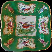 Antique Hand-Painted Chelsea Bird Porcelain Vegetable Bowl
