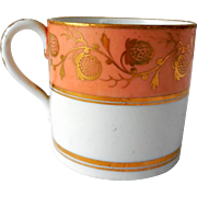 Early Child's Porcelain Mug/Can, Hand-Painted