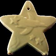 Mid-Century Pottery Star Wall Pocket, Planter