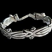 Vintage Sterling Silver Bracelet, J N Jacopo, Taxco, Mexico