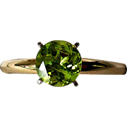 Vintage 14K Yellow and White Gold Ring, Stunning Peridot!